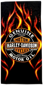 "Harley Davidson Flames Beach & Bath Towel (30"" x 60"")"
