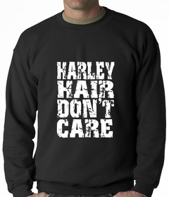 Harley Hair Don't Care Adult Crewneck