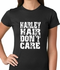 Harley Hair Don't Care Ladies T-shirt