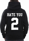 Hate You 2 Adult Hoodie