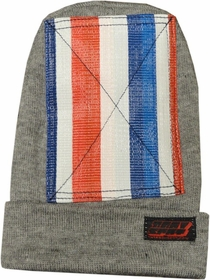 Head Spin Beanies - BBOY Headspin Break Dance Beanie (Grey / Red , White & Blue)