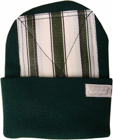 Head Spin Beanies - BBOY Headspin Break Dance Beanie (Hunter Green / White & Green)