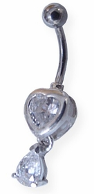 Heart & Teardrop Navel Jewelry