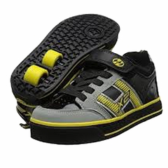 Heely's Bolt Plus X2 Roller Shoe (Black/Grey/Yellow)