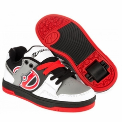 Heely's Flow Roller Shoe (Wht/Blk/Gry/Red)