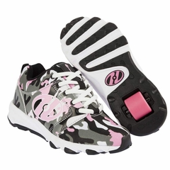 Heely's Hightail Roller Shoe, Pink/Camo