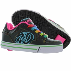 Heely's Motion Plus Roller Shoe, Black/Hot Pink