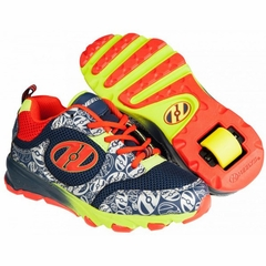 Heely's Race Roller Shoe (Navy/Orange/Lime)