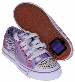 Heely's Sassy Roller Shoe (Purple/White)