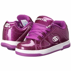 Heely's Split Roller Shoe, Purple/Glitter