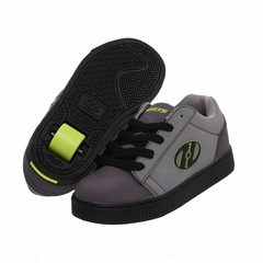 Heely's Straight Up Roller Shoe (Black/Charcoal Gray/Lime)
