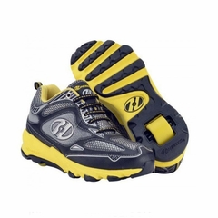 Heely's Swift Roller Shoe (Black/Yellow/Silver)