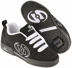 Heelys Clash Roller Shoe (Black/Black/White)