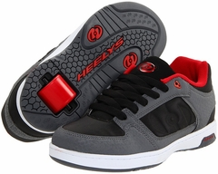 Heelys Double Threat Rollershoe (Black/Red/Grey)