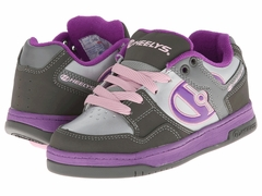 Heelys Flow Roller Shoe (Charcoal/Silver/Purple)