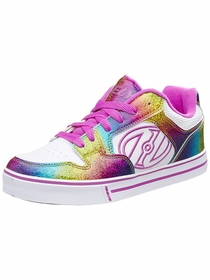 Heelys Motion Plus Skate Shoe (Rainbow / White / Hot Pink)