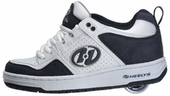 Heelys Ninja Rollershoes (White/Navy) With Blue Mega Graffiti Wheel