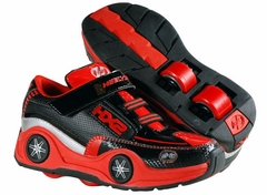 Heelys Spin LED Light Up Rollershoes (Black/Red/Silver)