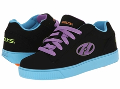 Heelys Straight Up Roller Shoe (Black/Blue/Purple)