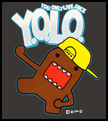 Hello Domo! YOLO You Only Live Once Men's T-Shirt