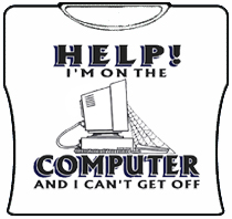 Help! I'm On The Computer Girls T-Shirt