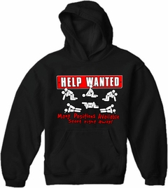 Help Wanted Many Positions Available Adult Hoodie