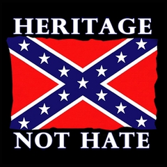 Heritage Not Hate Confederate Flag Mens T-shirt