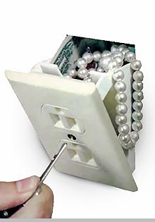 Hidden Fake Wall Outlet/Switch Safe<!-- Click to Enlarge-->