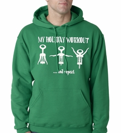 Holiday Workout Funny Adult Hoodie