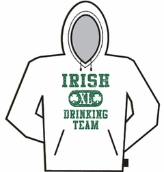 Hooded Sweatshirt - Irish Drinking Team Hoodie