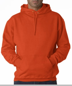 Hooded Sweatshirt :: Unisex Pull Over Hoodie (Burnt Orange)<!-- Click to Enlarge-->