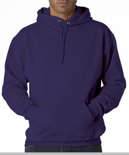Hooded Sweatshirt :: Unisex Pull Over Hoodie (Deep Purple)<!-- Click to Enlarge-->
