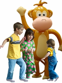 HUGE Inflatable Monkey - Over 5 Feet Tall!