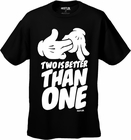 "Hustler Clothing ""Two Is Better Than One"" T-Shirt (Black)"