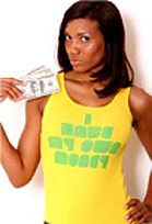 I Have My Own Money Girls T-Shirt