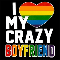 I Heart My Crazy Boyfriend Rainbow Pride Men's T-Shirt