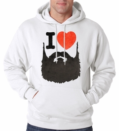 I Love Beards Fuzzy Adult Hoodie