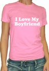 I Love /  I  Hate My Boyfriend Girls T-Shirt