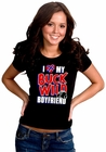 I Love My Buck Wild Boyfriend Girl's T-Shirt