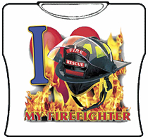 I Love MY Firefighter Girls T-Shirt