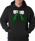 I Love You This Much Funny T-Rex Adult Hoodie