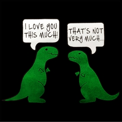 I Love You This Much Funny T-Rex Mens T-shirt