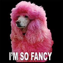 I'm So Fancy - Pink Poodle Mens T-shirt