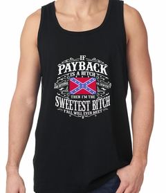 I'm The Sweetest Bitch Confederate Flag Tank Top