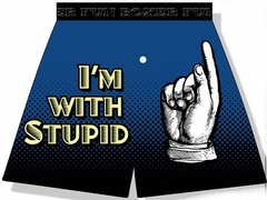 I'm With Stupid Boxer Shorts
