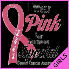 I Wear Pink For Someone Special Girl's T-Shirt