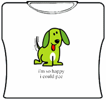 Im So Happy I Could Pee Girls T-Shirt