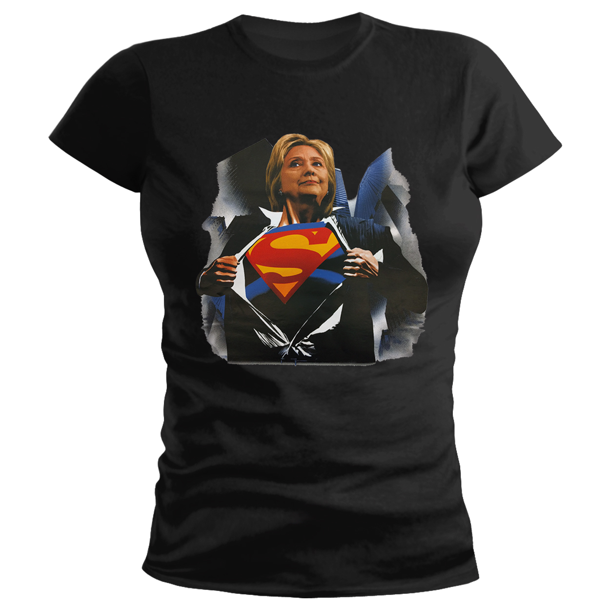 Super Hillary Election 2016 Ladies T-shirt