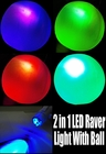 Incredible 2 in 1 Deluxe LED Raver Light With Blow Up Raver Ball