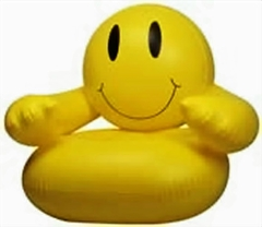 Inflatable Smile Face Blow up Chair
